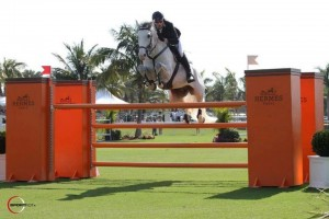 Simba x Cruise On. Rider: Andrew Bourns (Winning $50,000 Hermès Jumper Derby)